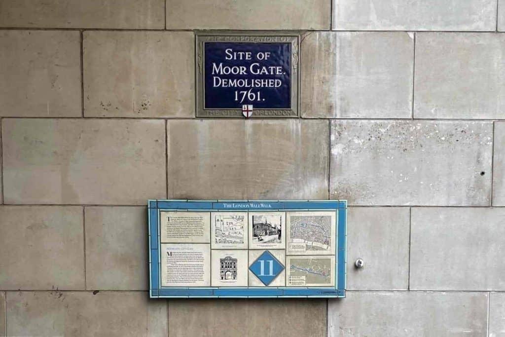 London Wall Walk - Plaque 11