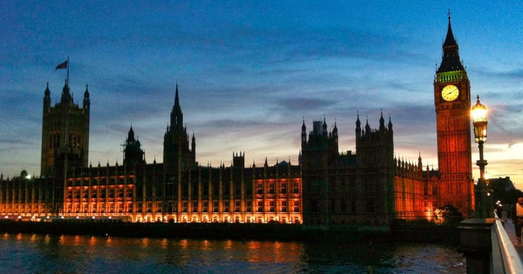 London Parliament at Sunset