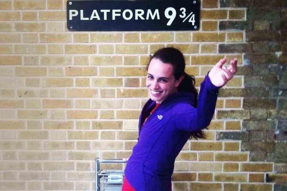 Platform 934 in King's Cross Station