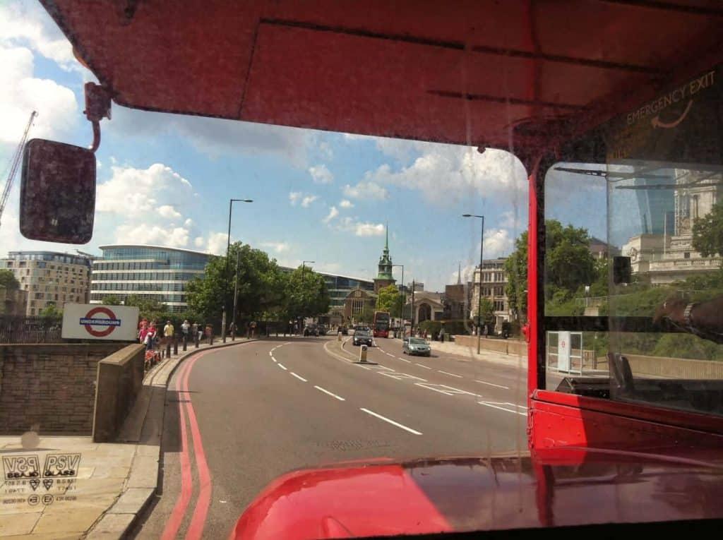 Riding a London Double Decker Bus
