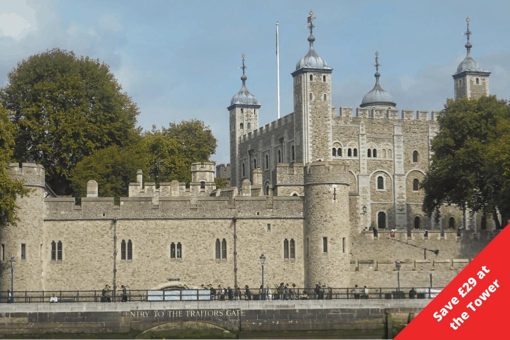 London Pass Savings Grid - Tower of London