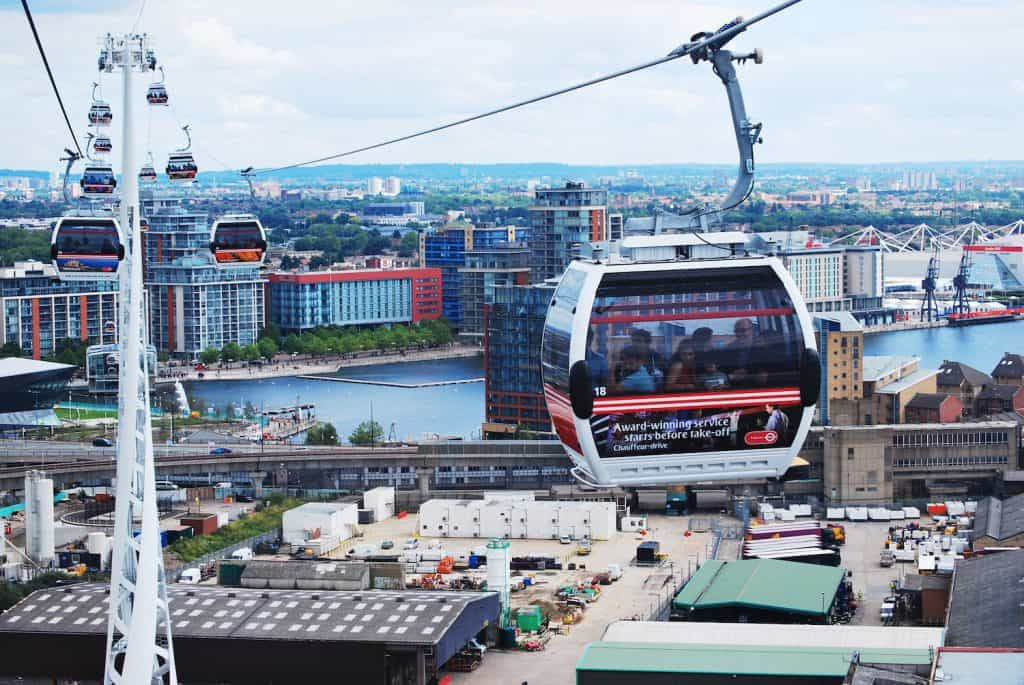 Best London Viewpoints - Emirates Air Line