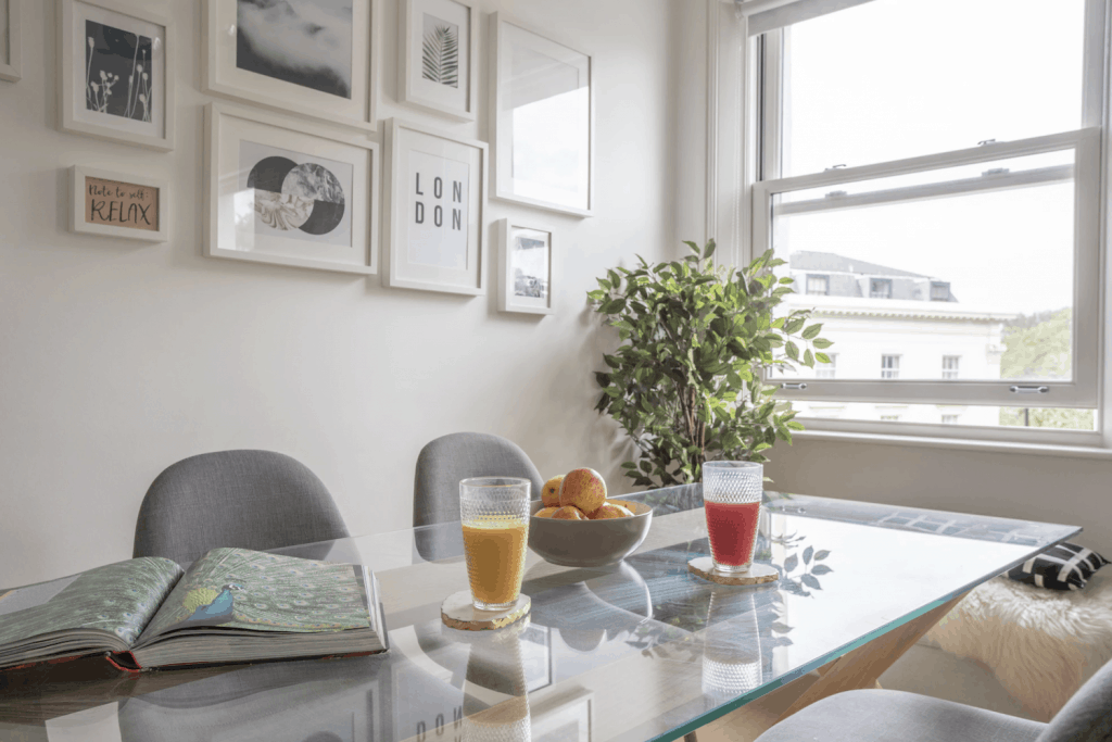 Where to Stay in Central London - Breakfast Table