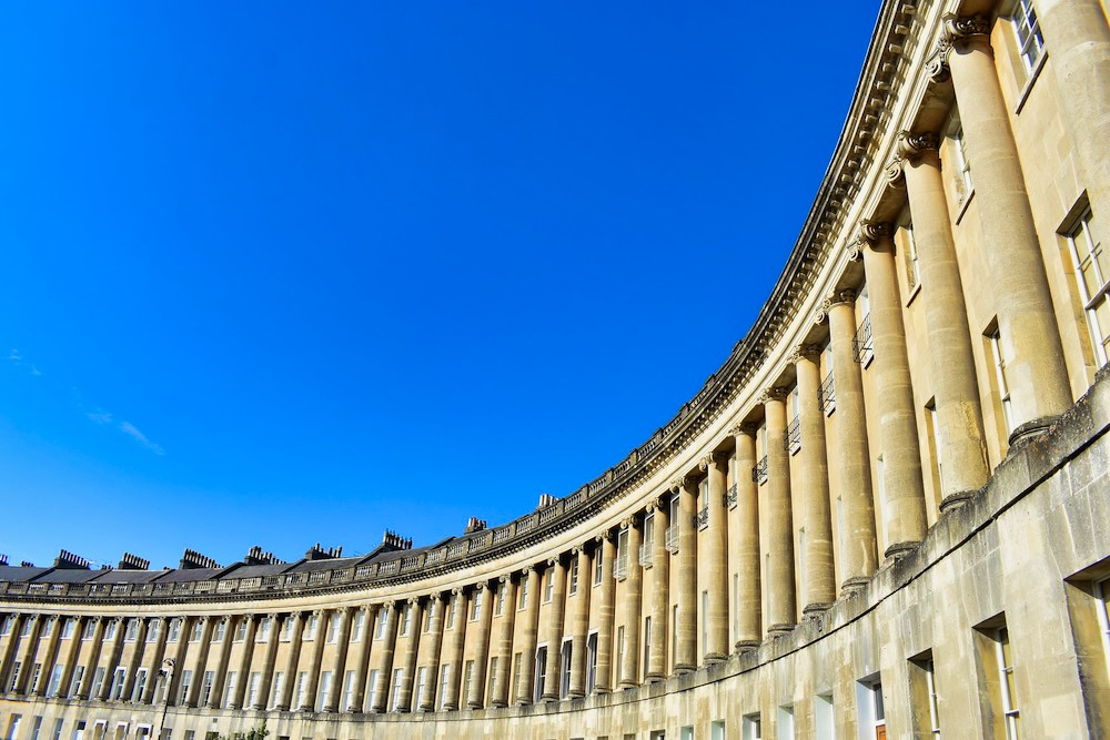 The Royal Crescent in Bath, England
