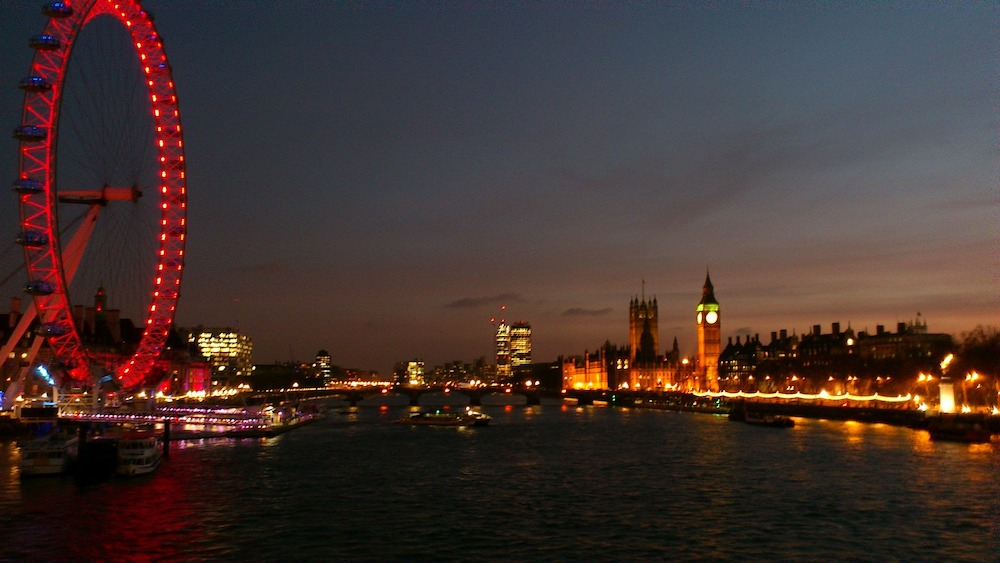 London in the Fall - View Across the Thames