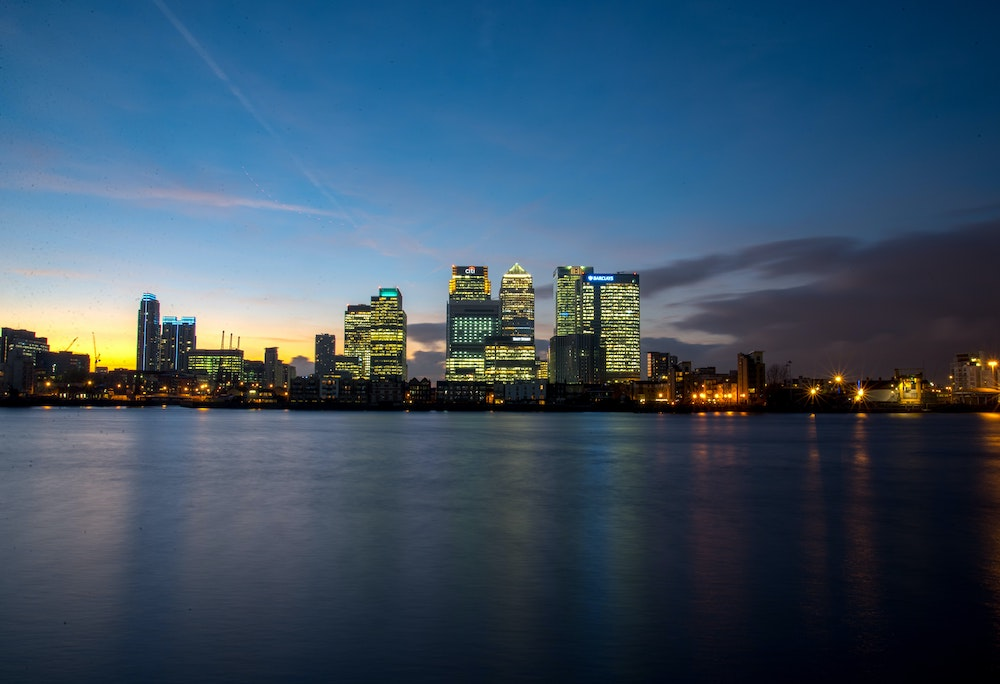 Where to Stay in East London - Canary Wharf at Sunset