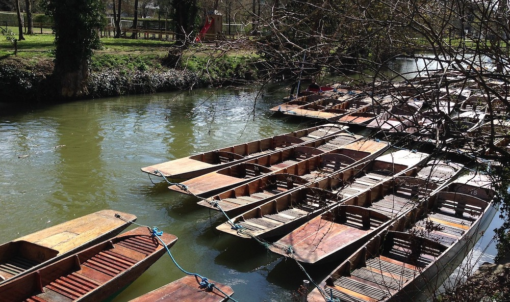 Oxford Day Trip - Punting Boats