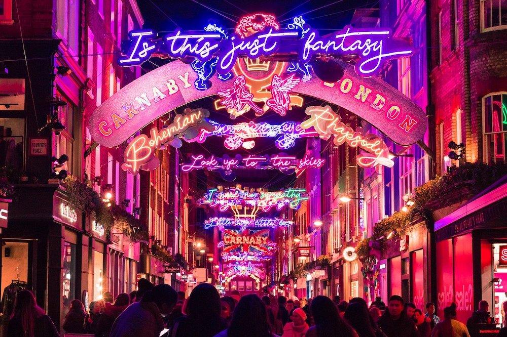 Christmas Lights in London - Carnaby Street