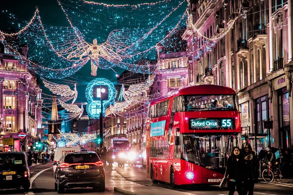 Christmas Lights in London - Regents Street