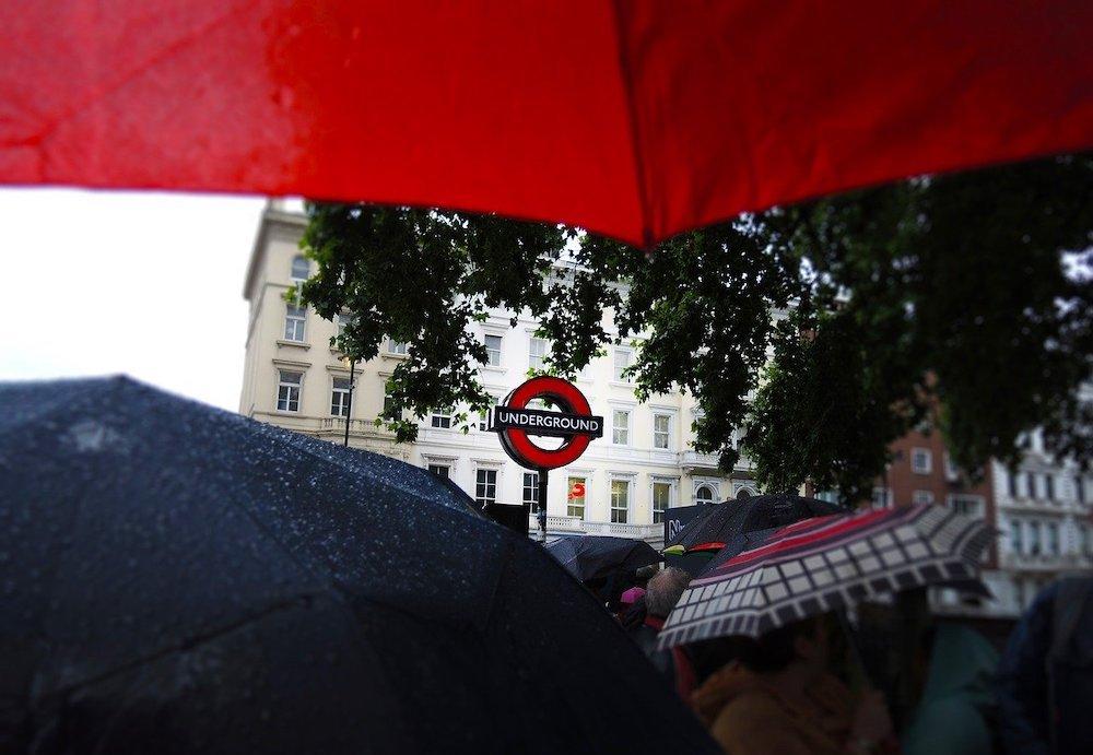 London on a Rainy Day - Umbrellas